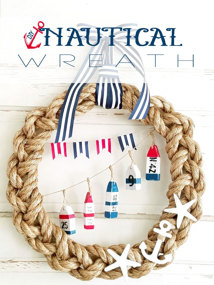DIY Nautical Rope Wreath