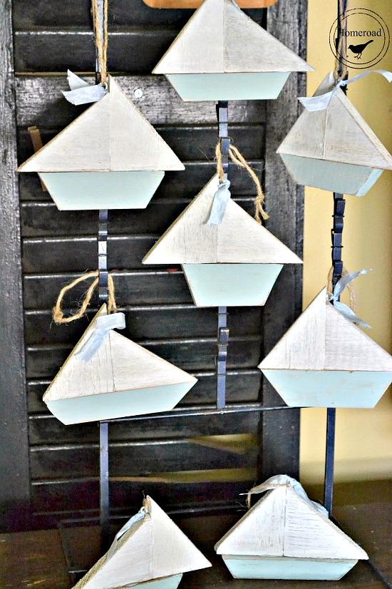 scrap wood sail boat ornaments