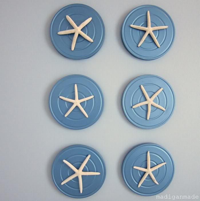 starfish mounted framed art