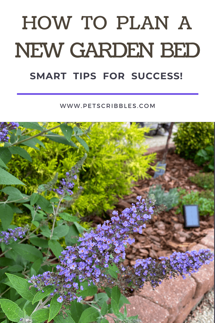 How to plan a new garden with detailed advice about effort, sun, soil, deer, rabbits, trees, shrubs, perennials, bulbs and annuals. With careful planning, you can have a new garden that will thrive! via @petscribbles